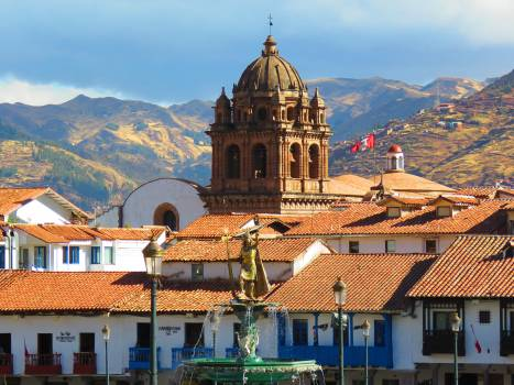 City cusco landscape roofs Free Photo