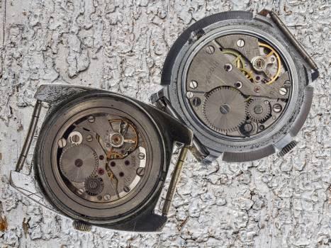 Clock macro mechanically movement Free Photo