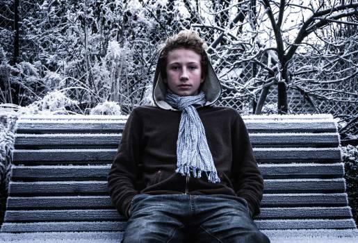 Adult alone bench boy Free Photo