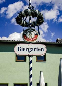 Beer beer garden bier biergarten Free Photo