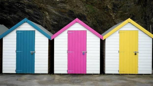 Architecture beach bungalow cabin Free Photo