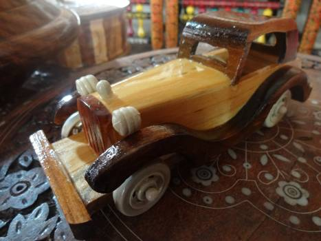 Brown car wooden #88138