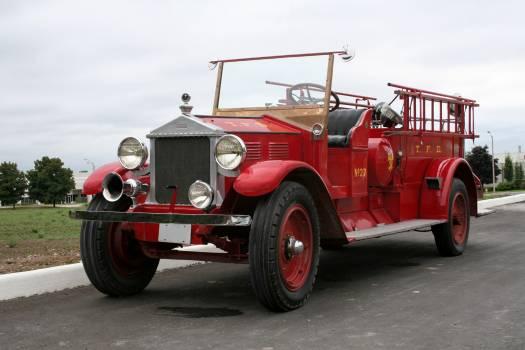 Fire truck vintage car #88176