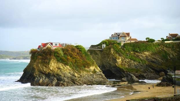 Beach bridge cliff coast Free Photo