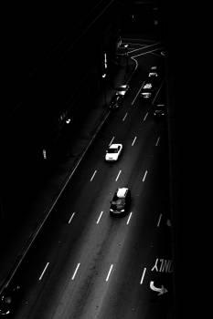 Black and white cars miami street Free Photo