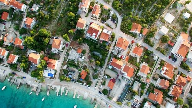 High Angle View of Residential Buildings #90037