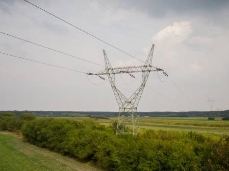 Cable construction electricity electricity pylon Free Photo