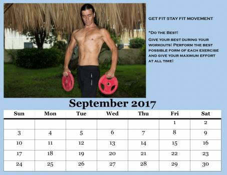 Calendar 2017 elements fitness center exercise exercises Free Photo