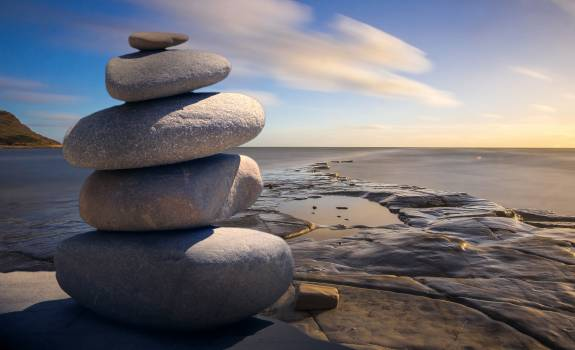 Background balance beach boulder Free Photo