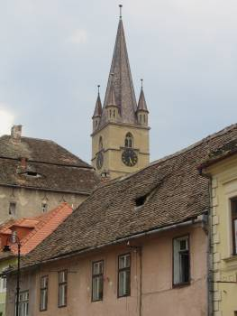 Buildings church tower romania roofs #91952