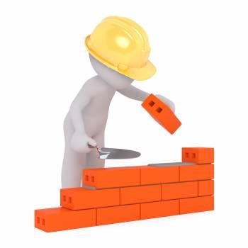 3d 3d model brick build a house Free Photo