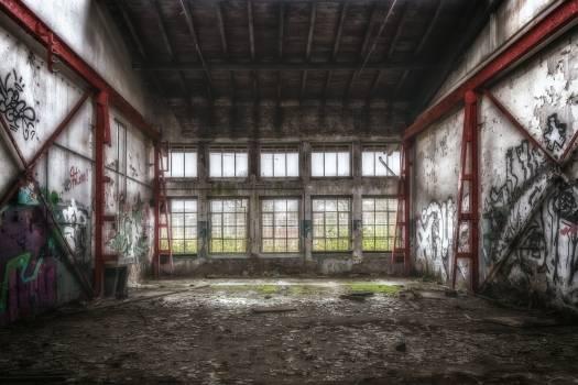 Broken building decay dirty Free Photo