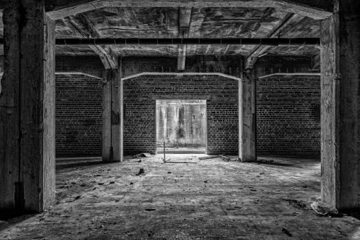 Abandoned atmosphere black white building Free Photo