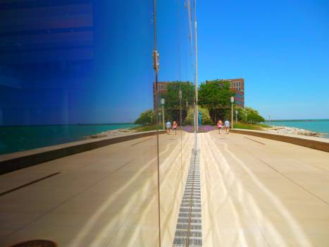 Blue building chicago lake #92733