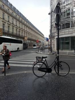 Bicycle france rainshower rainy Free Photo
