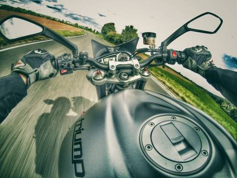 Country road high speed motorbike motorcycle Free Photo