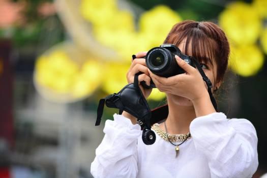 Photographer Binoculars Snapshot Free Photo