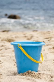 Beach fun ocean pail Free Photo