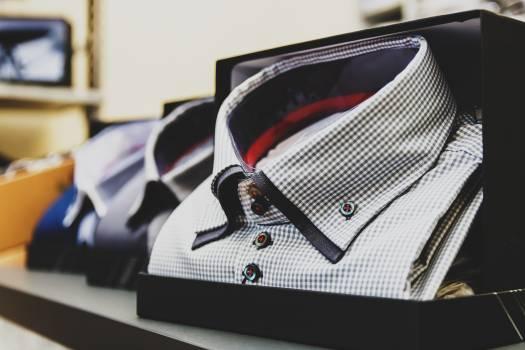 Blur box business checkered shirt #95830