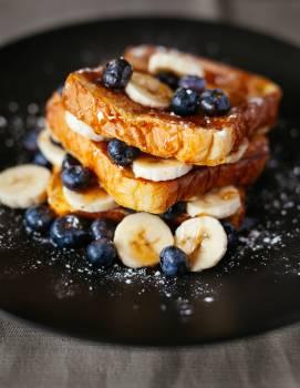 Banana berry blueberry bread Free Photo