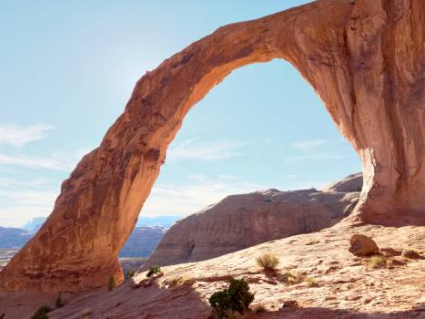 Arch Canyon Valley Free Photo