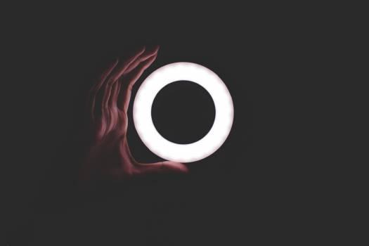 Abstract dark hand light Free Photo