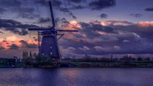 Architecture bridge clouds dawn #98855