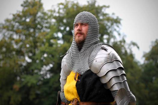 Armor beard character fencing Free Photo