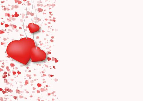 Background drawing greeting card hanging heart Free Photo