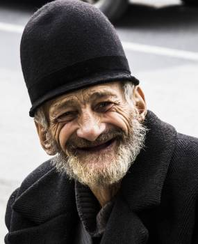 Happy male old man portrait #99122