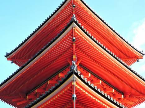 Buddhist temple festival five story pagoda fushimi inari shrine #99287