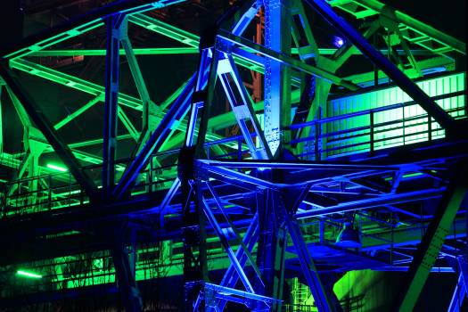 Blast furnace bridge colorful crane Free Photo