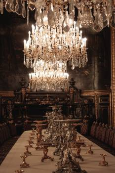 Chandelier gold louvre museum #99683