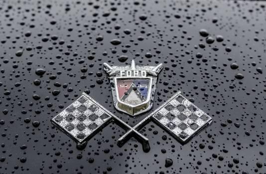 Antique auto badge car #99808
