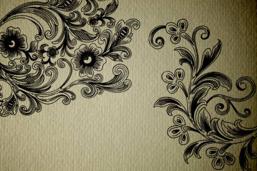 Floral Damask Fabric #331504