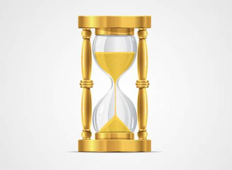 Hourglass Timepiece Clock #331520