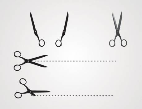 Scissors Silhouette Drawing #331655