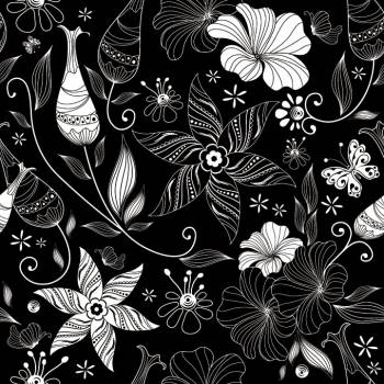 Floral Pattern Wallpaper Free Photo