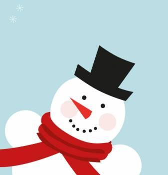 Cartoon Snowman Figure #331706
